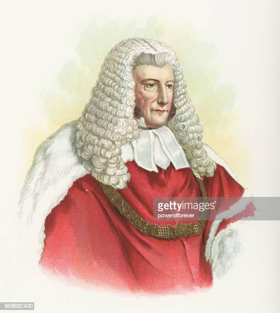 lord chief justice john campbell, 1st baron campbell - 19th century - peerage title stock illustrations