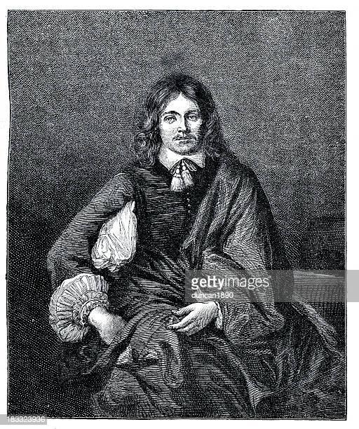lord falkland - fine art portrait stock illustrations, clip art, cartoons, & icons