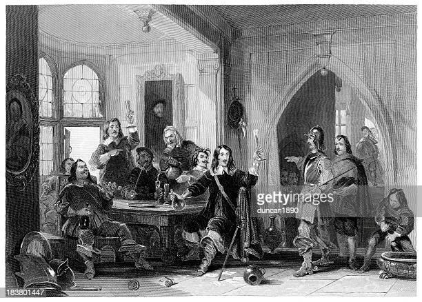 lord goring carousing - cavalier cavalry stock illustrations, clip art, cartoons, & icons
