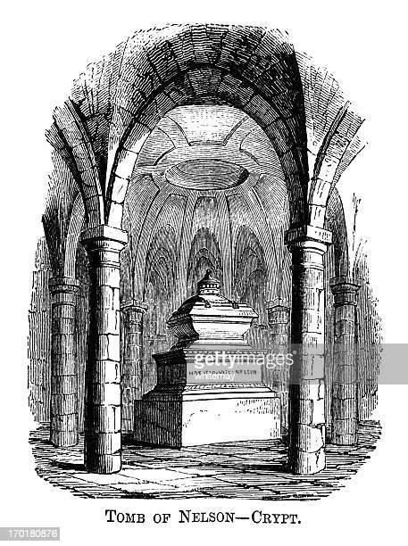 ナズィアーネルソンの墓、セントポールのクリプト(1871 彫り込み - リージェンシー様式点のイラスト素材/クリップアート素材/マンガ素材/アイコン素材
