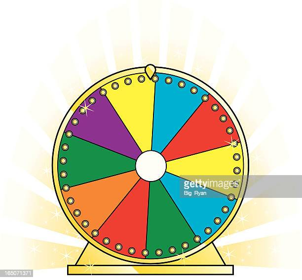 lottery spinner - wheel stock illustrations, clip art, cartoons, & icons