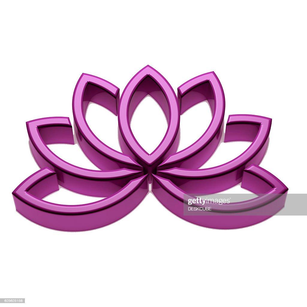 Lotus flower logo 3d render illustration stock illustration getty lotus flower logo 3d render illustration stock illustration izmirmasajfo