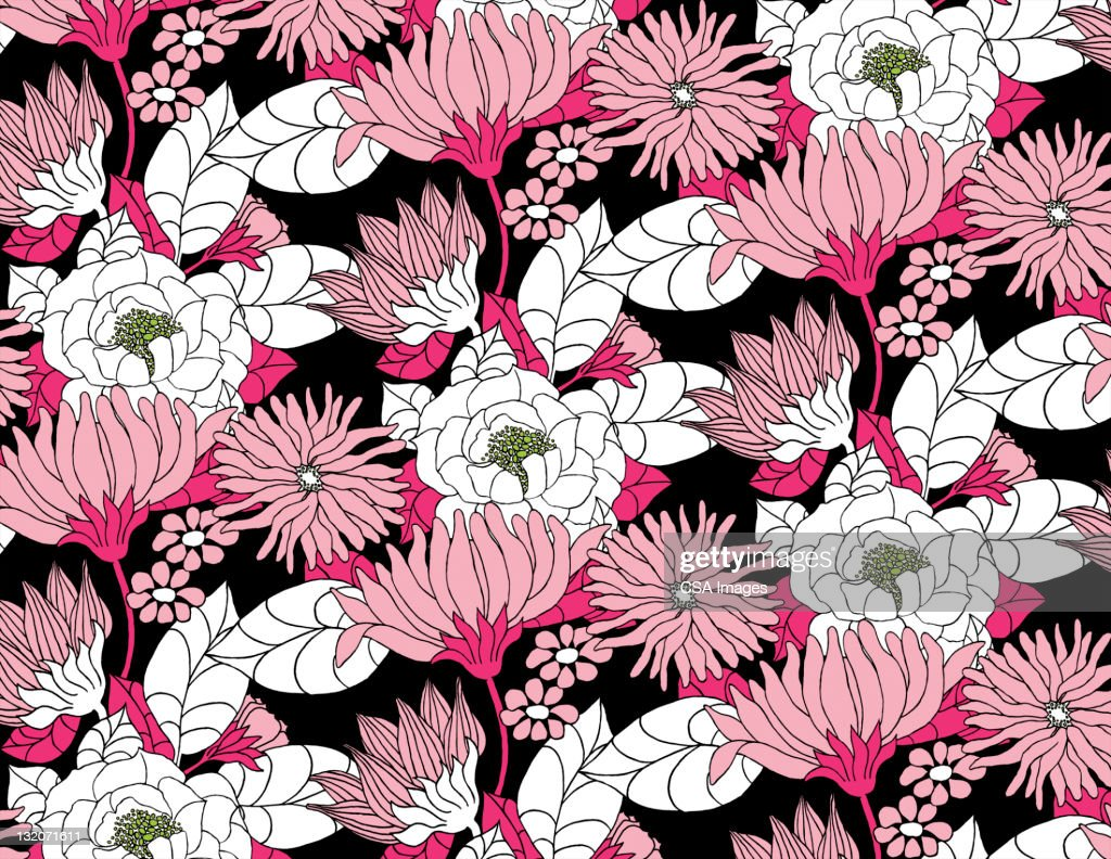 Lotus flower pattern stock illustration getty images lotus flower pattern pink white black stock illustration izmirmasajfo