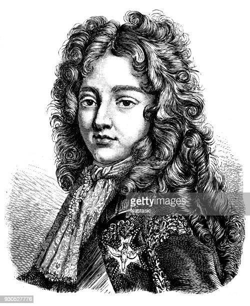 louis, duke of burgundy and later dauphin of france (16 august 1682 – 18 february 1712) - circa 15th century stock illustrations, clip art, cartoons, & icons