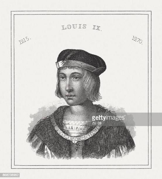 Louis IX (1214-1270), King of France, steel engraving, published 1843