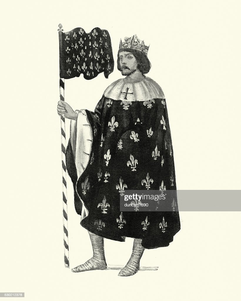 Louis IX of France : stock illustration