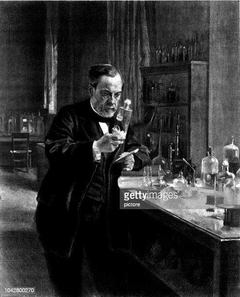 louis pasteur (1849-1895) - physicist stock illustrations, clip art, cartoons, & icons