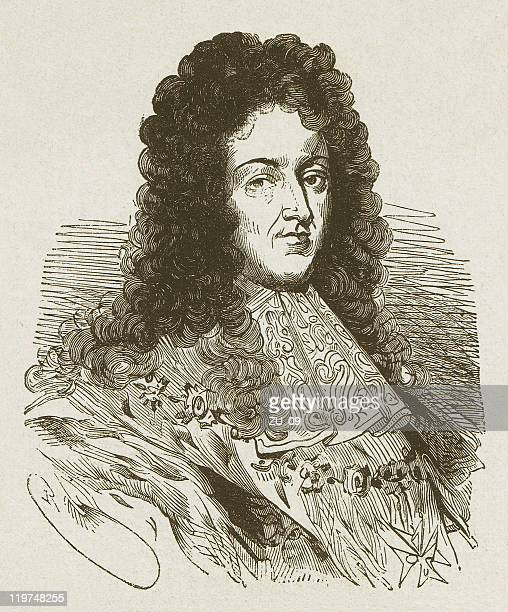 louis xiv (1638-1715), french king, wood engraving, published in 1877 - louis xiv of france stock illustrations, clip art, cartoons, & icons