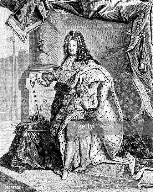 louis xiv - louis xiv of france stock illustrations, clip art, cartoons, & icons