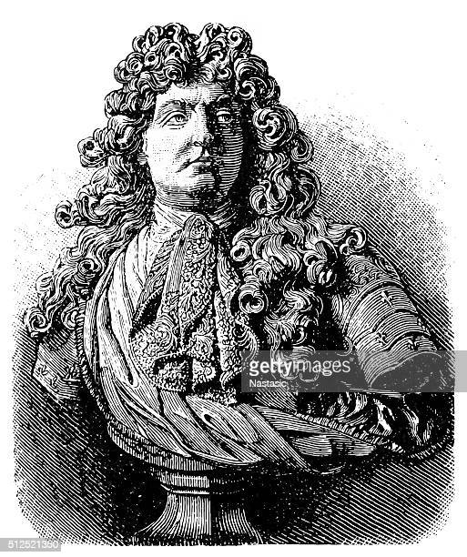 louis xiv, king of france - louis xiv of france stock illustrations, clip art, cartoons, & icons