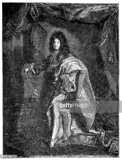 louis xiv of france - louis xiv of france stock illustrations, clip art, cartoons, & icons