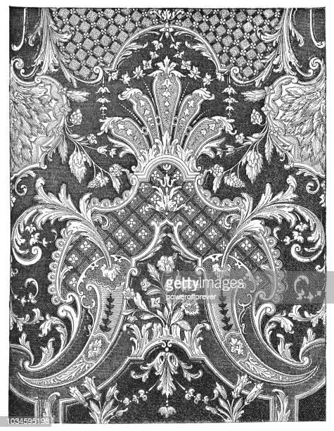 ルイ 14 世スタイル cuir de cordoue (1643 – 1715) - ヨーロッパ文化点のイラスト素材/クリップアート素材/マンガ素材/アイコン素材