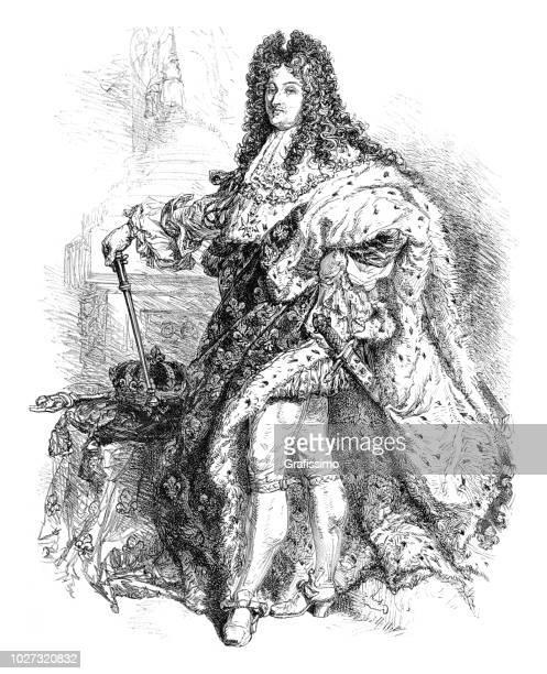 illustrations, cliparts, dessins animés et icônes de roi louis xvi d'illustration portrait france - louis 16