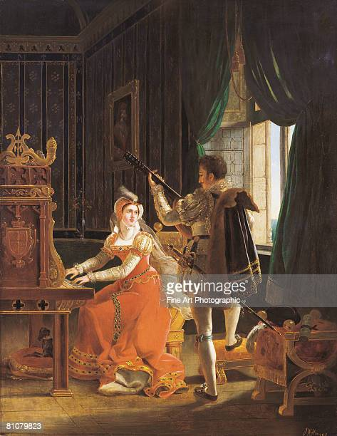 a love duet - history stock illustrations