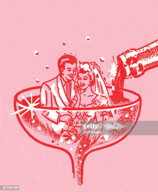 love is a martini - wine stock illustrations