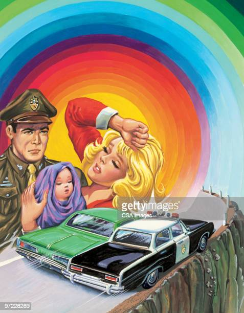 love triangle - horrible car accidents stock illustrations