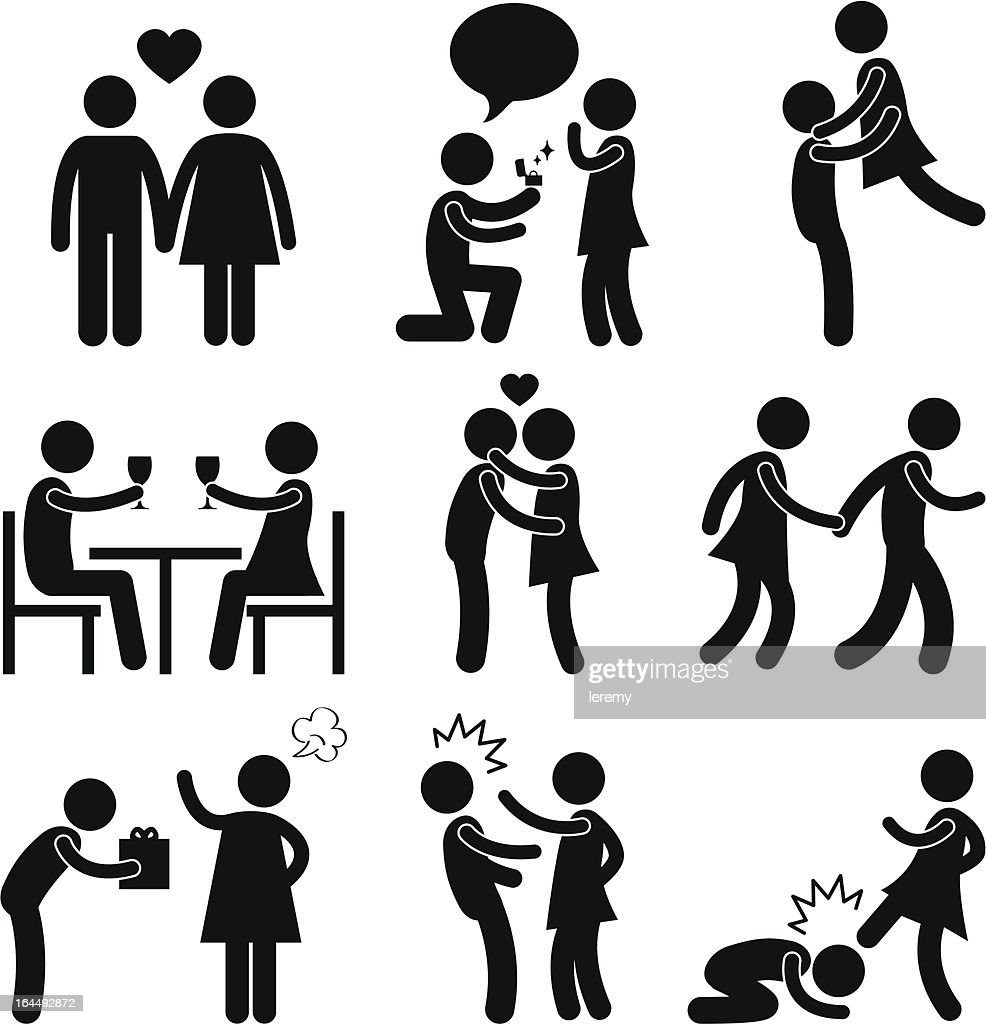 Lover Couple Love Proposal Pictogram