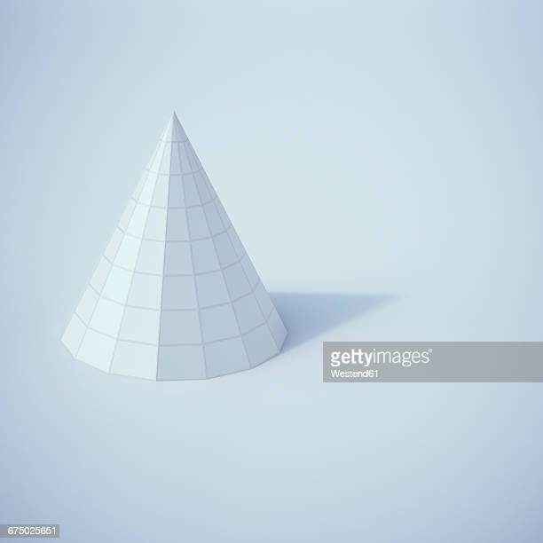 Low poly cone, 3D Rendering