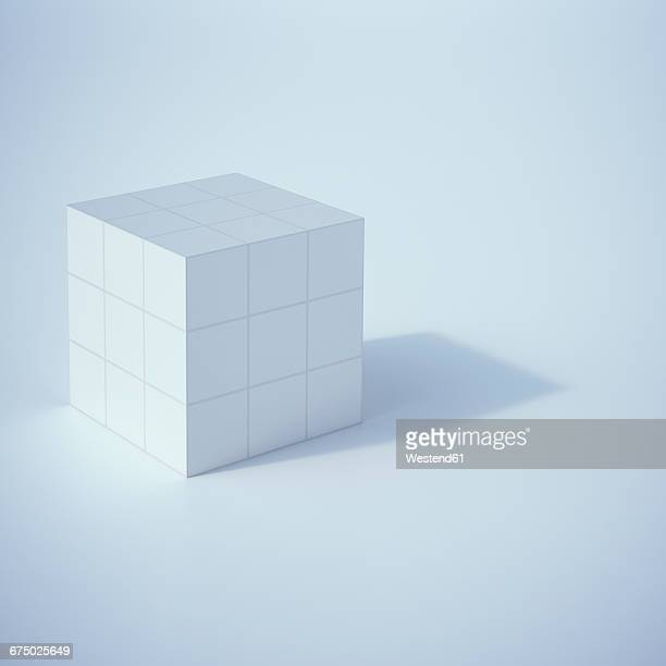Low poly cube, 3D Rendering