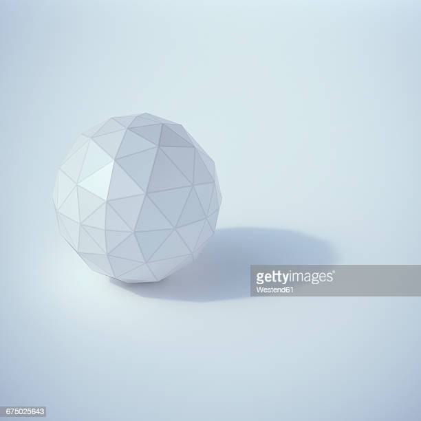low poly sphere, 3d rendering - sphere stock illustrations