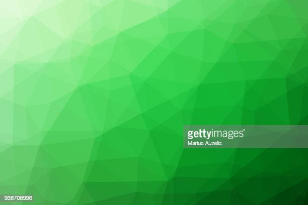 Low Polygon Green Background