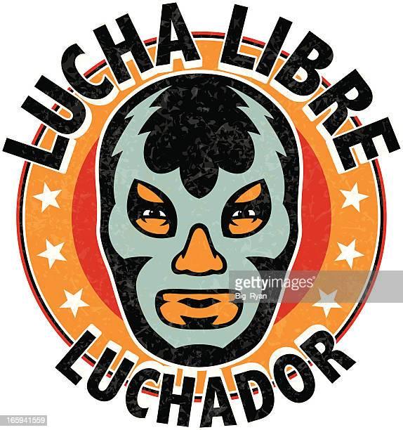 lucha libre luchador - mexican culture stock illustrations