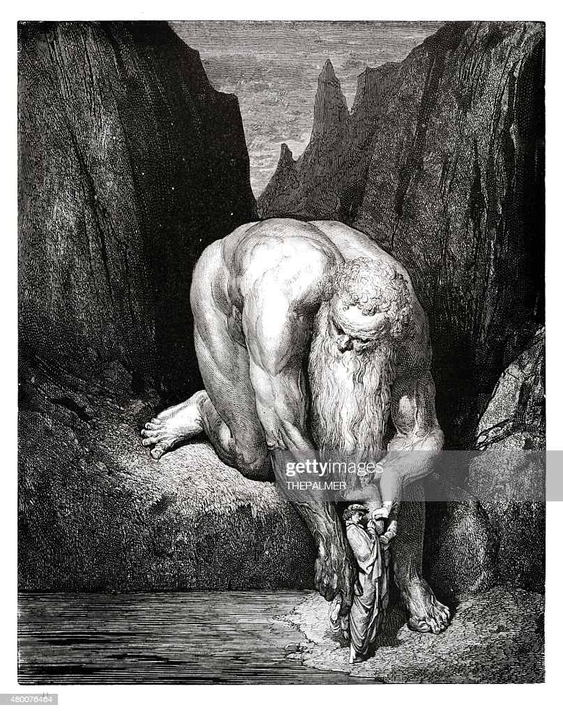 Lucifer with Judas engraving : stock illustration