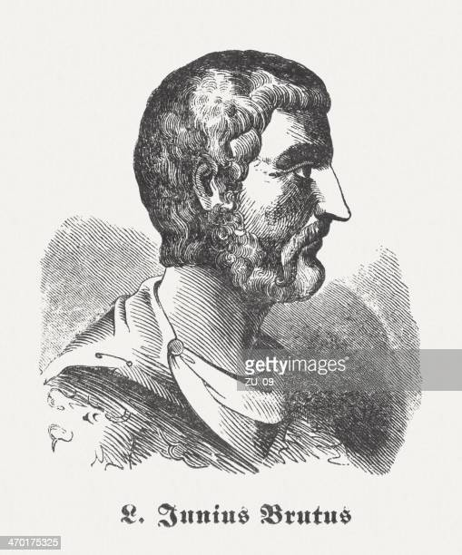 lucius junius brutus (allegedly † 509 bc), published in 1864 - governmental occupation stock illustrations, clip art, cartoons, & icons