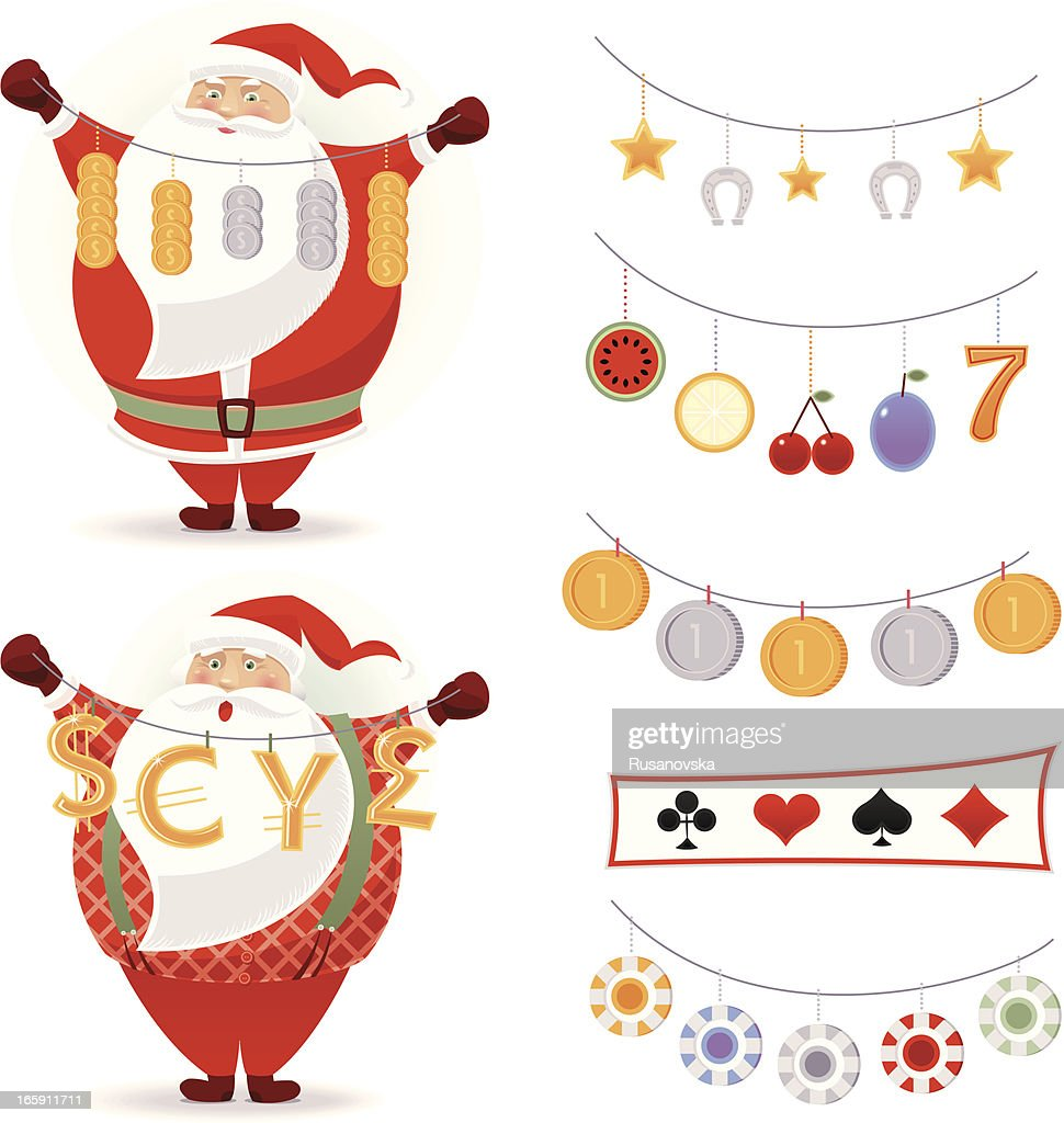 Lucky Santa Claus : Stock Illustration