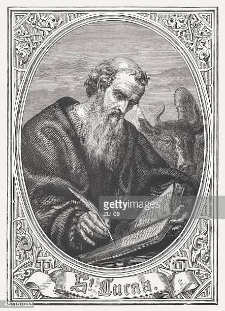 Luke the Evangelist, wood engraving, published in 1868