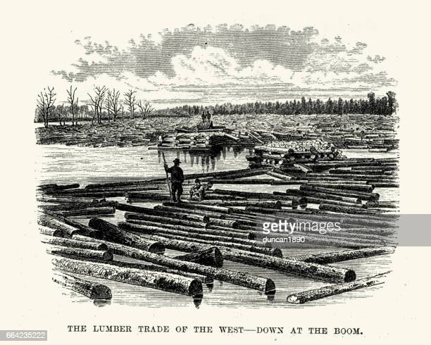 Lumber Trade of the West, Down at the boom