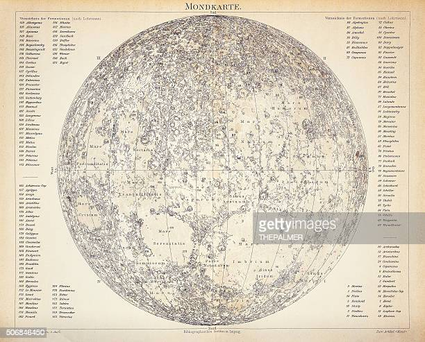 Lunar Map engraving 1896
