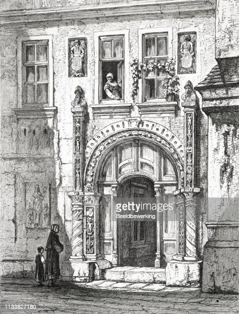 Luthers house eisenach Thuringen in the 19th century from the 1873 book 'the Earth and her People