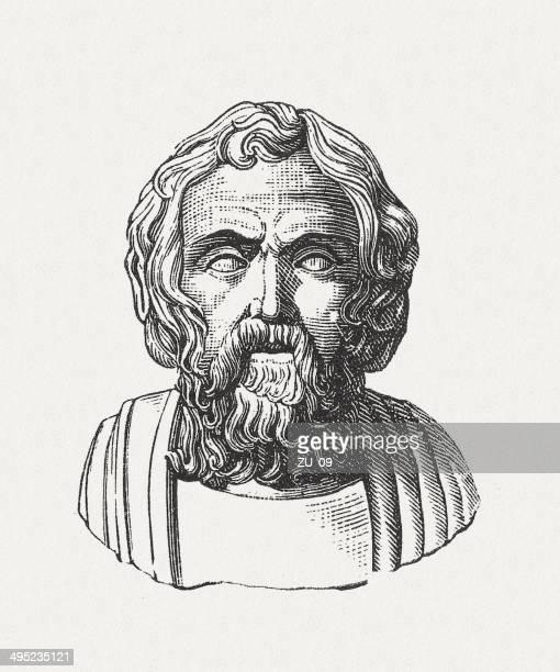 lycurg (11th-8th century bc), legislator of sparta, published in 1881 - sparta greece stock illustrations, clip art, cartoons, & icons