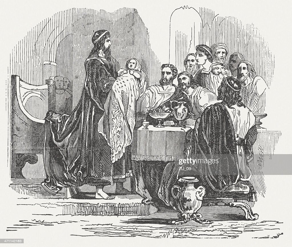 Lycurgus assures his nephew, as his rightful successor, published 1864 : stock illustration