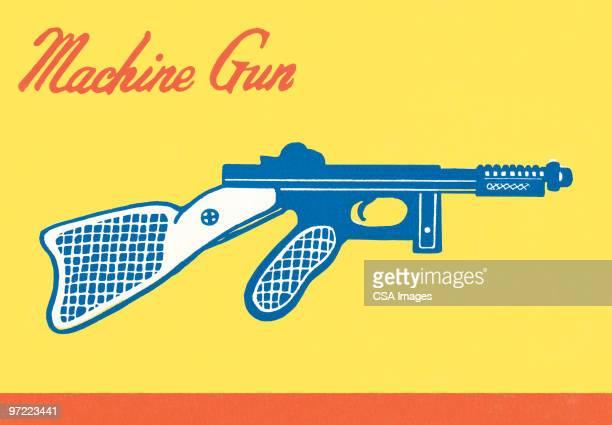 machine gun - machine gun stock illustrations, clip art, cartoons, & icons