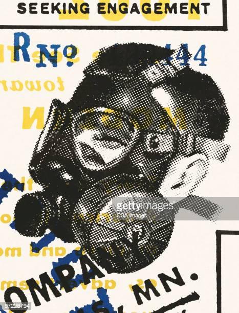machinery - scuba mask stock illustrations