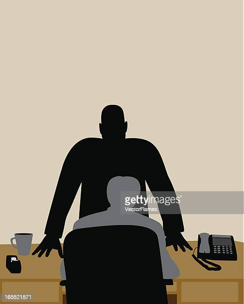 mad boss - office politics stock illustrations, clip art, cartoons, & icons