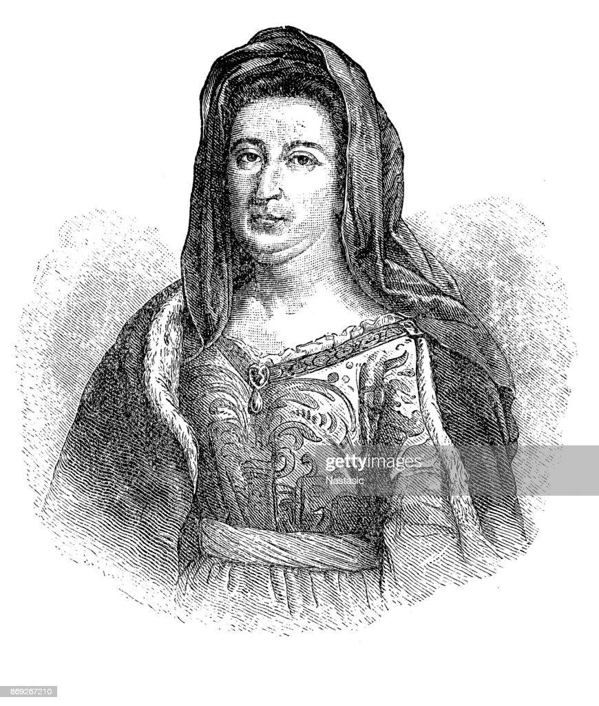 Madame de Maintenon : stock illustration