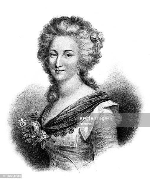 illustrazioni stock, clip art, cartoni animati e icone di tendenza di madame elisabetta, sorella di luigi xvi - re nobile