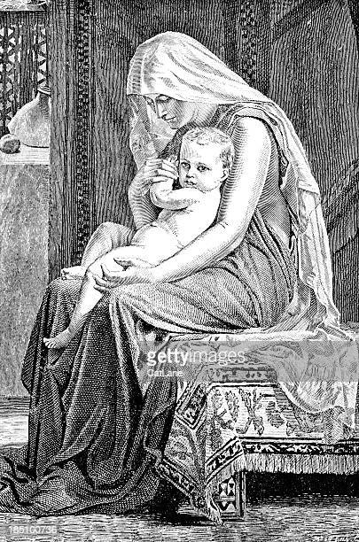 Madonna and Baby - Victorian Illustration