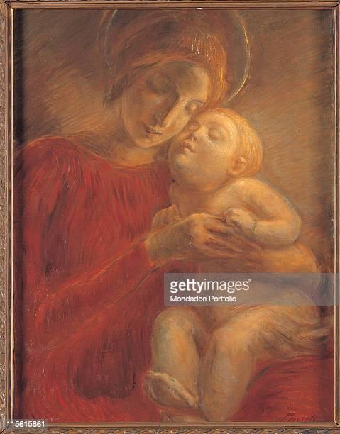 Private collection. All Madonna Child red dress/garment