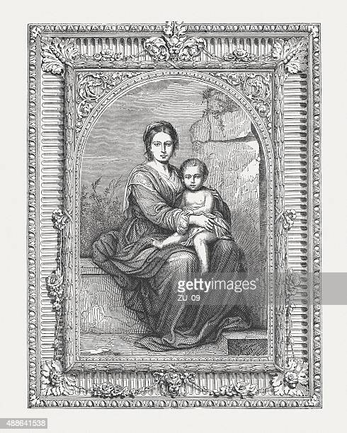 Madonna and Child, painted by Murillo, published in 1878