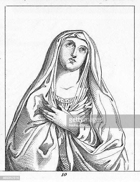 illustrations, cliparts, dessins animés et icônes de madonna par guido reni - la vierge marie