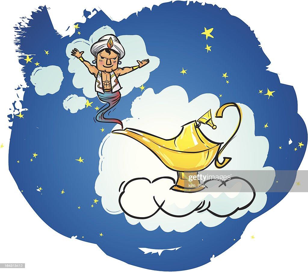 Magic Lamp and  Smiling genie