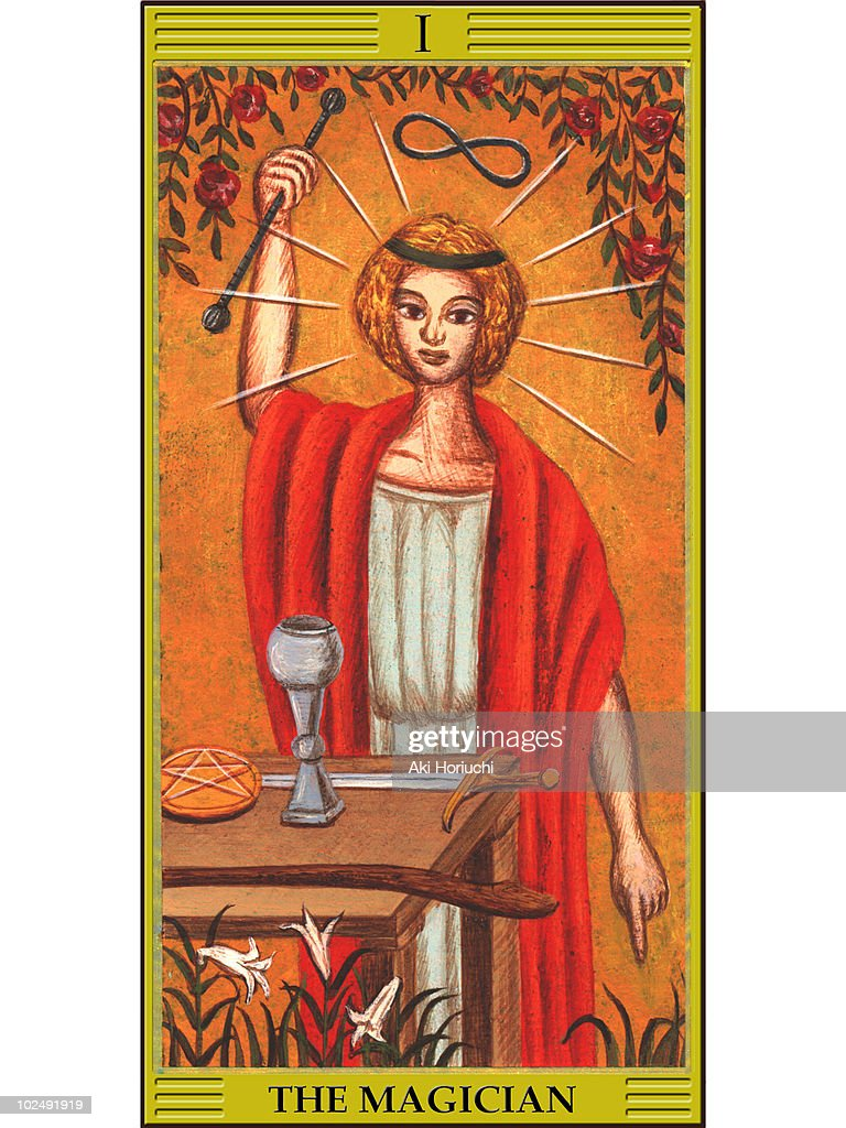 Magician Tarot Card stock illustration - Getty Images