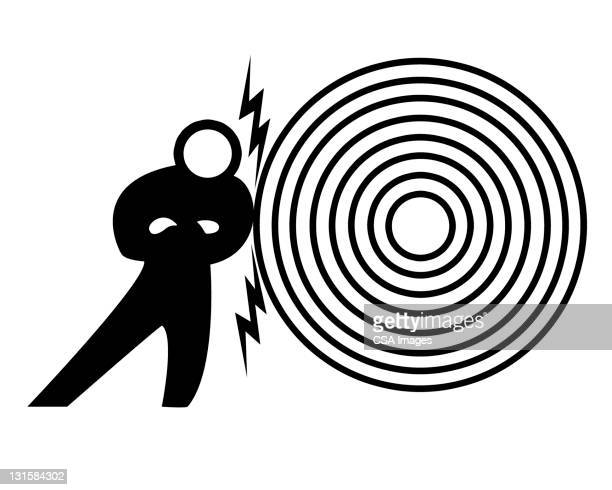 magnetic target and man - stubborn stock illustrations, clip art, cartoons, & icons