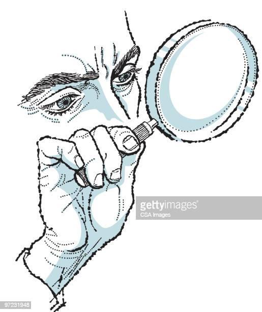 magnifying glass - 証拠点のイラスト素材/クリップアート素材/マンガ素材/アイコン素材