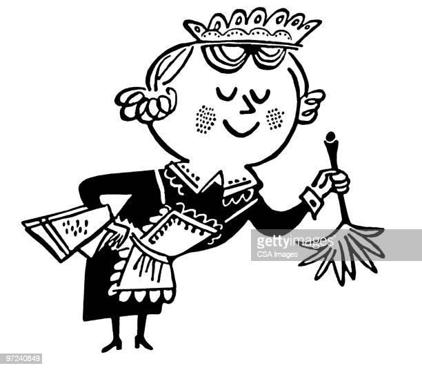 maid - maid stock illustrations, clip art, cartoons, & icons
