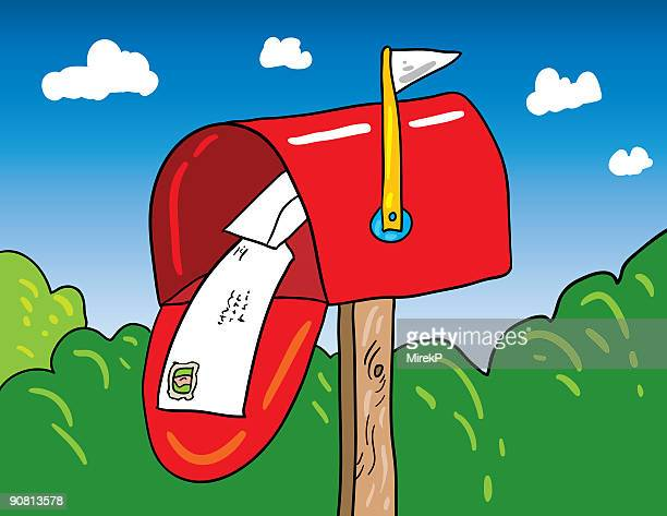 mailbox - post office stock illustrations, clip art, cartoons, & icons